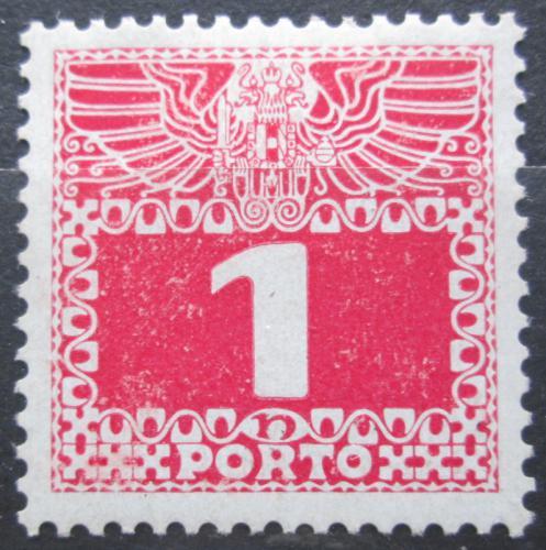 Poštovní známka Rakousko 1908 Doplatní, lesklý papír Mi# 34