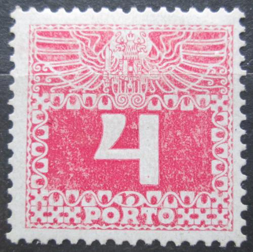 Poštovní známka Rakousko 1908 Doplatní, lesklý papír Mi# 36