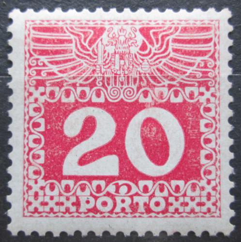 Poštovní známka Rakousko 1908 Doplatní, lesklý papír Mi# 40 Kat 15€