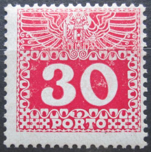 Poštovní známka Rakousko 1908 Doplatní, lesklý papír Mi# 42 Kat 15€