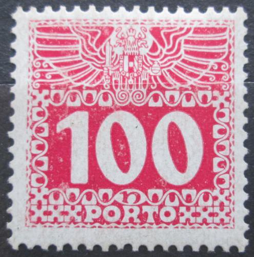 Poštovní známka Rakousko 1908 Doplatní, lesklý papír Mi# 44 Kat 20€