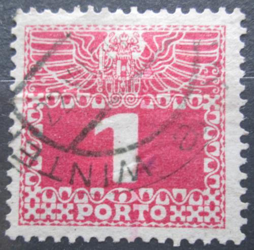 Poštovní známka Rakousko 1908 Doplatní, tenký papír bez lesku Mi# 34y