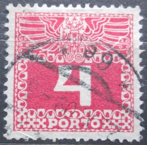 Poštovní známka Rakousko 1909 Doplatní, tenký papír bez lesku Mi# 36y