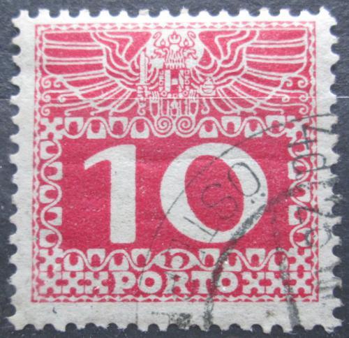 Poštovní známka Rakousko 1909 Doplatní, tenký papír bez lesku Mi# 38y