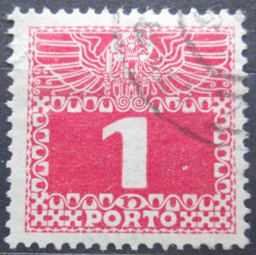 Poštovní známka Rakousko 1910 Doplatní, støednì silný papír bez lesku Mi# 34