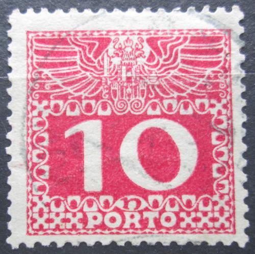 Poštovní známka Rakousko 1910 Doplatní, støednì silný papír bez lesku Mi# 38