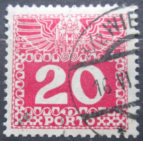 Poštovní známka Rakousko 1910 Doplatní, støednì silný papír bez lesku Mi# 40
