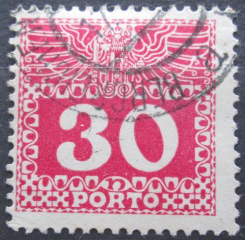 Poštovní známka Rakousko 1910 Doplatní, støednì silný papír bez lesku Mi# 42
