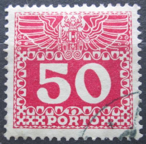 Poštovní známka Rakousko 1910 Doplatní, støednì silný papír bez lesku Mi# 43