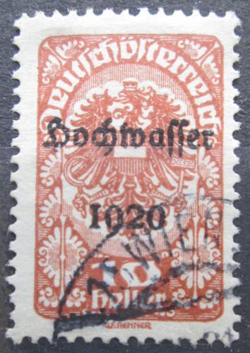 Poštovní známka Rakousko 1921 Císaøská orlice, pøetisk Povodnì Mi# 341