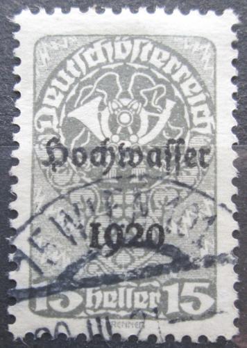 Poštovní známka Rakousko 1921 Poštovní roh, pøetisk Povodnì Mi# 342