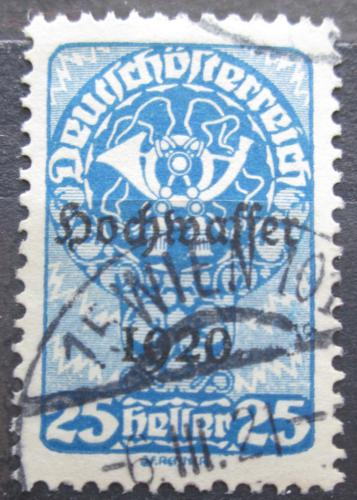 Poštovní známka Rakousko 1921 Poštovní roh, pøetisk Povodnì Mi# 344