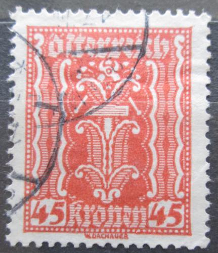 Poštovní známka Rakousko 1922 Alegorie hospodáøství Mi# 373