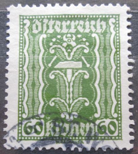 Poštovní známka Rakousko 1922 Alegorie hospodáøství Mi# 375