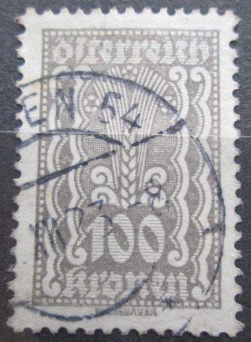 Poštovní známka Rakousko 1922 Alegorie hospodáøství Mi# 378
