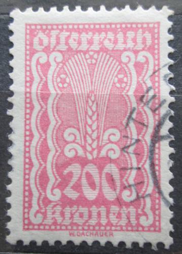Poštovní známka Rakousko 1922 Alegorie hospodáøství Mi# 383