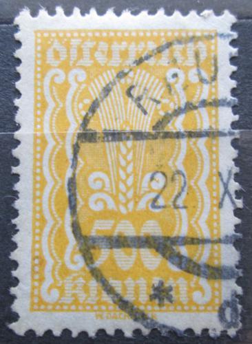 Poštovní známka Rakousko 1922 Alegorie hospodáøství Mi# 387