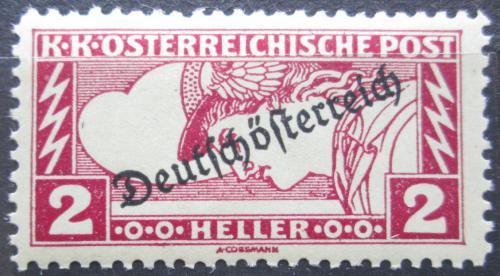 Poštovní známka Rakousko 1919 Merkur, zvláštní doruèení pøetisk Mi# 252 A