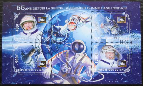 Poštovní známky Mali 2020 Prùzkum vesmíru, Alexej Leonov Mi# N/N