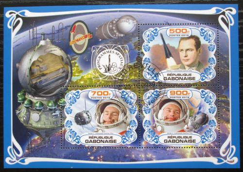 Poštovní známky Gabon 2019 Prùzkum vesmíru, German Titov Mi# N/N