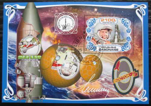 Poštovní známka Gabon 2019 Prùzkum vesmíru, German Titov Mi# N/N