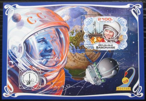 Poštovní známka Gabon 2019 Prùzkum vesmíru, Jurij Gagarin Mi# N/N
