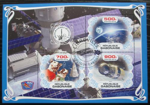 Poštovní známky Gabon 2019 Prùzkum vesmíru, Belka a Strelka Mi# N/N