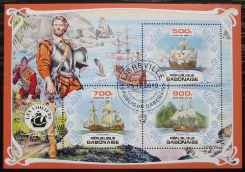 Poštovní známky Gabon 2019 Plachetnice, objevení Ameriky Mi# N/N