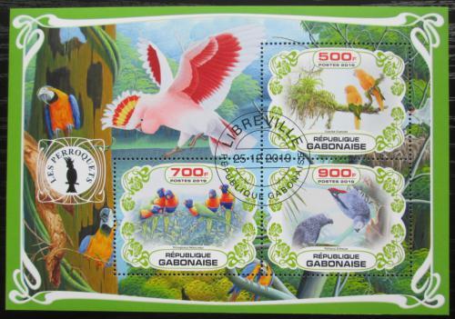 Poštovní známky Gabon 2019 Papoušci Mi# N/N