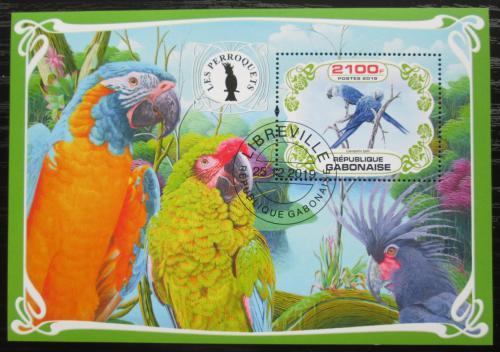Poštovní známka Gabon 2019 Papoušci Mi# N/N