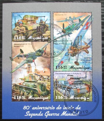 Poštovní známky Mosambik 2019 Bojová technika 2. svìtové války Mi# N/N