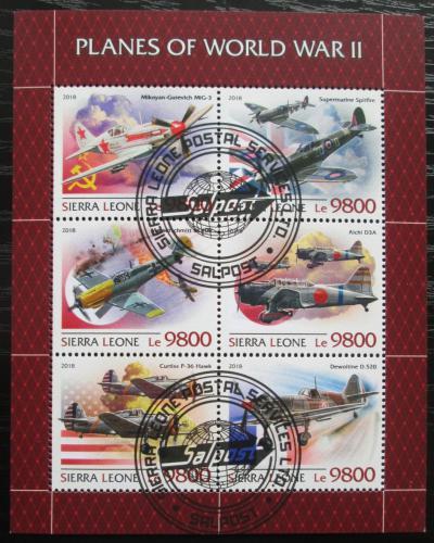 Poštovní známky Sierra Leone 2018 Letadla 2. svìtové války Mi# 10241-46 Kat 16€