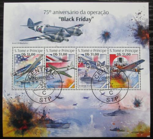 Poštovní známky Svatý Tomáš 2020 Letadla 2. svìtové války Mi# N/N