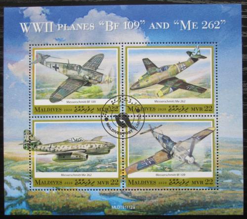 Poštovní známky Maledivy 2020 Letadla 2. svìtové války Mi# N/N