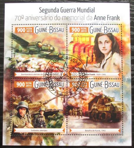 Poštovní známky Guinea-Bissau 2015 Válka a Anne Franková Mi# 8138-41 Kat 14€