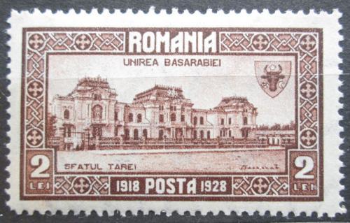 Poštovní známka Rumunsko 1928 Budova Zemské rady Mi# 330