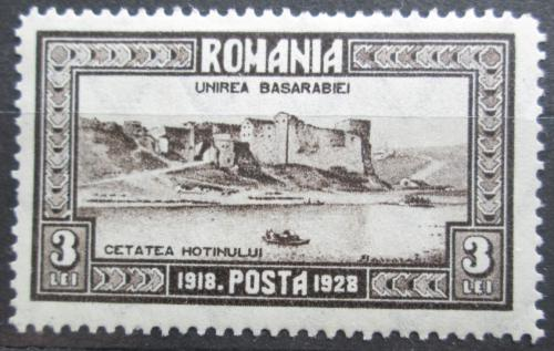 Poštovní známka Rumunsko 1928 Pevnost Hotin Mi# 331