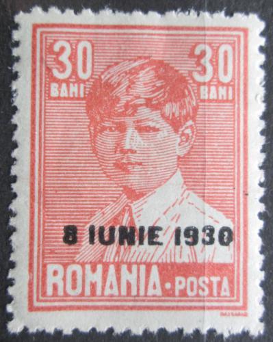Poštovní známka Rumunsko 1930 Král Michael I. pøetisk Mi# 362