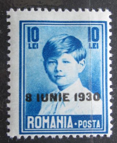 Poštovní známka Rumunsko 1930 Král Michael I. pøetisk Mi# 371 Kat 7€