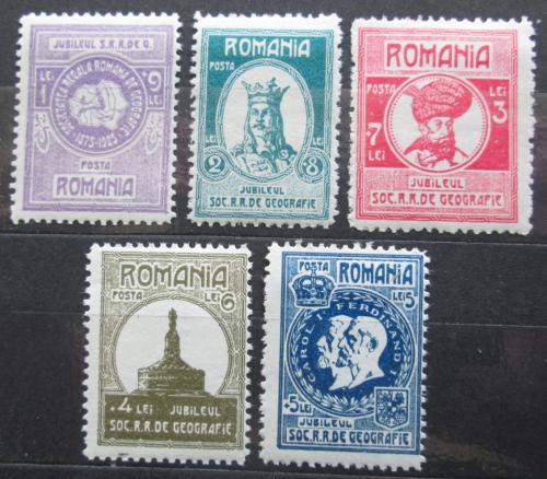 Poštovní známky Rumunsko 1927 Geografická spoleènost TOP SET Mi# 303-07 Kat 30€