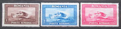 Poštovní známky Rumunsko 1928 Letadla TOP SET Mi# 336-38 Y Kat 40€