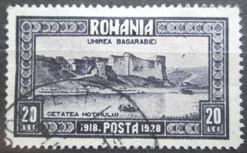 Poštovní známka Rumunsko 1928 Pevnost Hotin Mi# 335