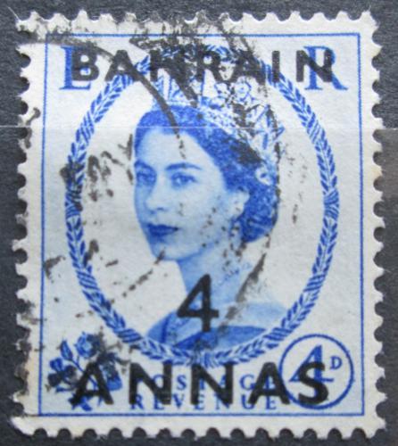Poštovní známka Bahrajn 1953 Královna Alžběta II. přetisk ...