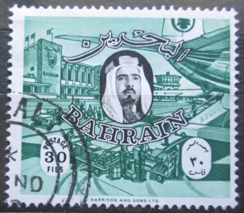 Poštovní známka Bahrajn 1966 Šejk Ál Chalífa a letištì Mi# 153