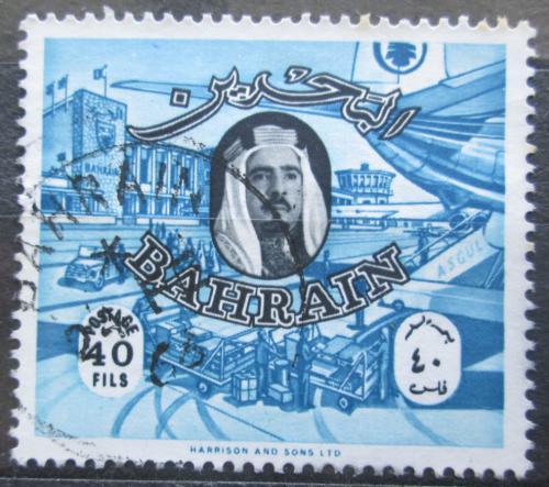 Poštovní známka Bahrajn 1966 Šejk Ál Chalífa a letištì Mi# 154