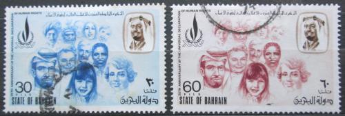 Poštovní známky Bahrajn 1973 Den lidských práv Mi# 202-03 Kat 15€