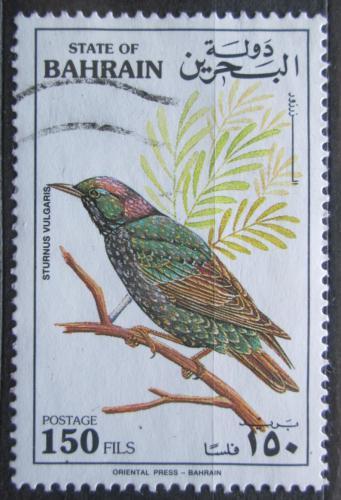 Poštovní známka Bahrajn 1992 Špaèek obecný Mi# 453