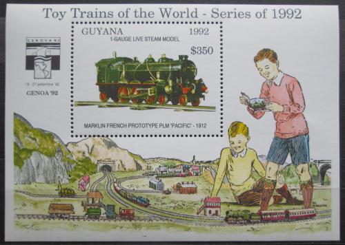 Poštovní známka Guyana 1992 Modely lokomotiv a vagónù Mi# Block 212 Kat 9.50€