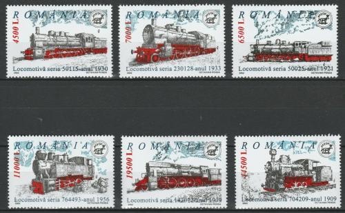 Poštovní známky Rumunsko 2002 Parní lokomotivy Mi# 5681-86 Kat 8.50€