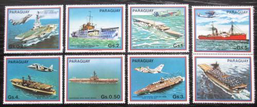 Poštovní známky Paraguay 1983 Letadlové lodì s kupónem Mi# 3656-62